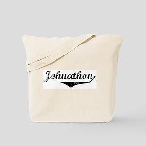 Johnathon Vintage (Black) Tote Bag