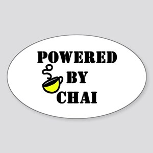 Powered by Chai: Oval Sticker