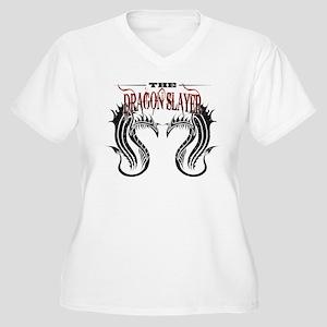 The Dragon Slayer Women's Plus Size V-Neck T-Shirt
