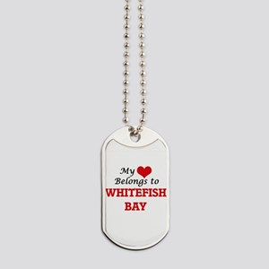 My Heart Belongs to Whitefish Bay Michiga Dog Tags