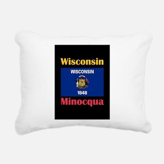 Minocqua Wisconsin Rectangular Canvas Pillow