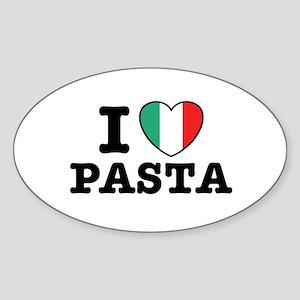 I Love Pasta Oval Sticker