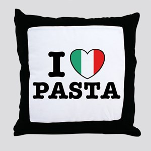 I Love Pasta Throw Pillow