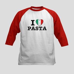I Love Pasta Kids Baseball Jersey