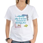 Succeed in Fun Women's V-Neck T-Shirt