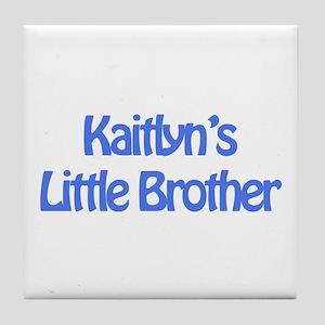 Kaitlyn's Little Brother Tile Coaster