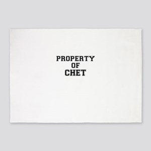 Property of CHET 5'x7'Area Rug
