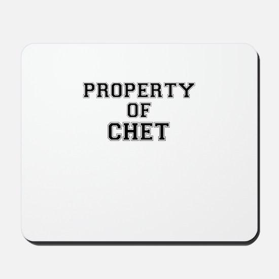 Property of CHET Mousepad