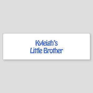Kyleigh's Little Brother Bumper Sticker