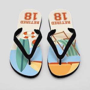 Beach Retirement 2018 Flip Flops