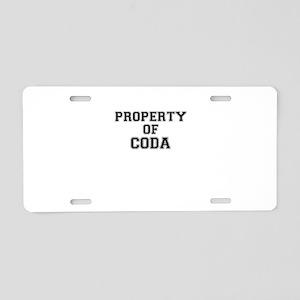 Property of CODA Aluminum License Plate