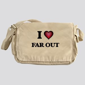 I love Far Out Messenger Bag