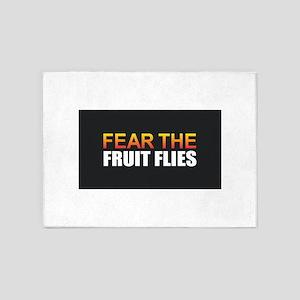 Fear the Fruit Flies 5'x7'Area Rug