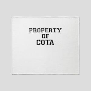 Property of COTA Throw Blanket