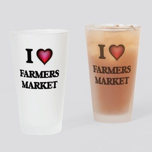 I love Farmers Market Drinking Glass