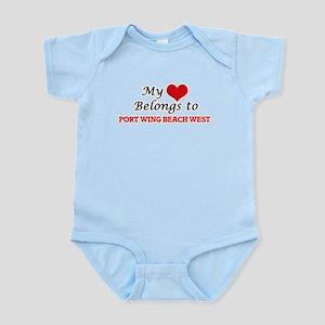My Heart Belongs to Port Wing Beach West Body Suit