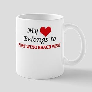 My Heart Belongs to Port Wing Beach West Wisc Mugs