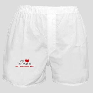 My Heart Belongs to Port Wing Beach W Boxer Shorts