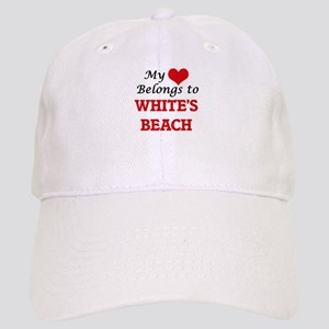 My Heart Belongs to White'S Beach Wisconsin Cap