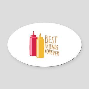 Best Friends Oval Car Magnet