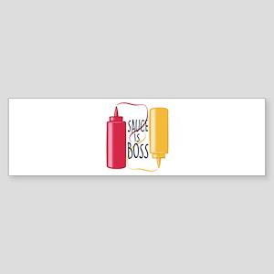 Sauce Is Boss Bumper Sticker