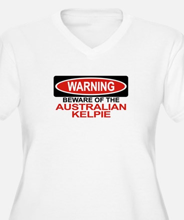 AUSTRALIAN KELPIE Womes Plus-Size V-Neck T-Shirt