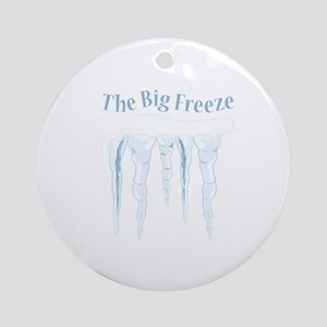 Big Freeze Round Ornament