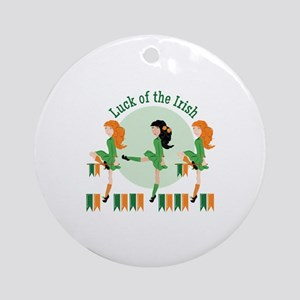 Luck Of Irish Round Ornament
