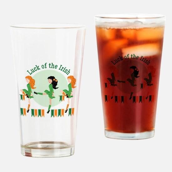 Luck Of Irish Drinking Glass
