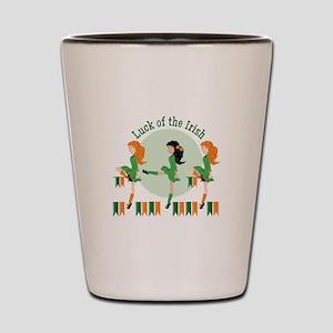 Luck Of Irish Shot Glass
