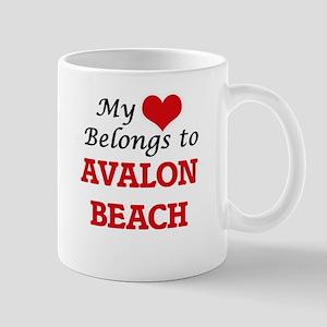 My Heart Belongs to Avalon Beach California Mugs