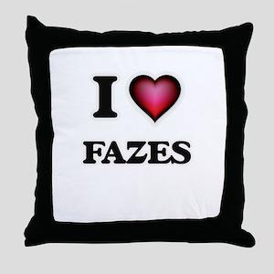 I love Fazes Throw Pillow
