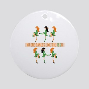 Dance Like Irish Round Ornament