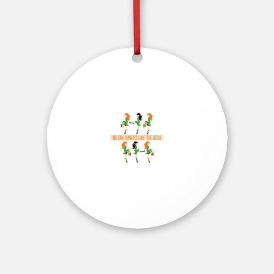 Dance Like Irish Round Ornament