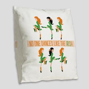 Dance Like Irish Burlap Throw Pillow