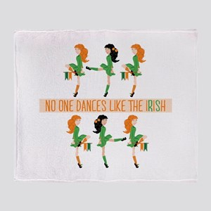 Dance Like Irish Throw Blanket