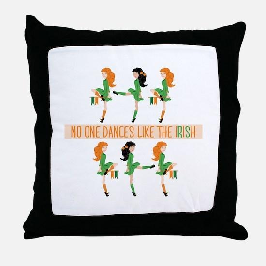 Dance Like Irish Throw Pillow