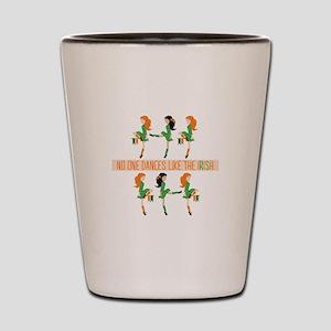 Dance Like Irish Shot Glass