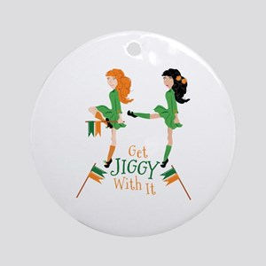 Get Jiggy Round Ornament
