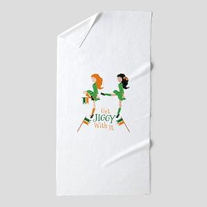 Get Jiggy Beach Towel