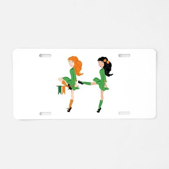 Irish Dancer Aluminum License Plate