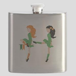 Irish Dancer Flask