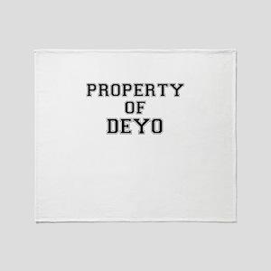 Property of DEYO Throw Blanket