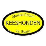 Spoiled Keeshonden Oval Sticker