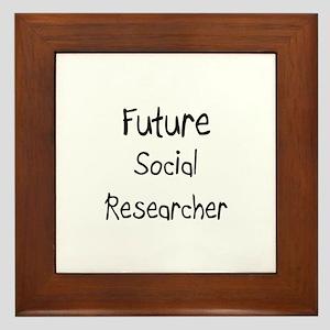 Future Social Researcher Framed Tile