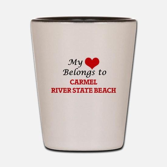 My Heart Belongs to Carmel River State Shot Glass