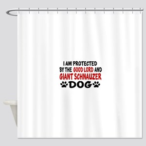 Protected By Giant Schnauzer Shower Curtain