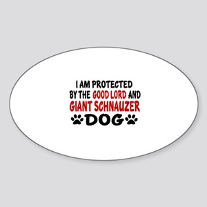 Protected By Giant Schnauzer Sticker (Oval)