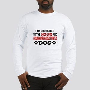 Protected By German Wirehaired Long Sleeve T-Shirt
