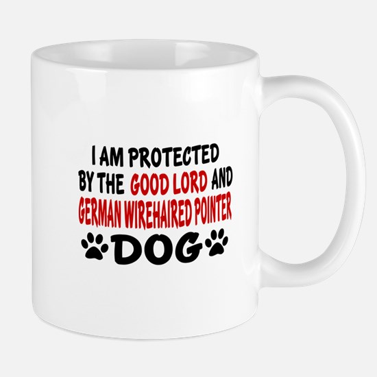 Protected By German Wirehaired Pointer Mug